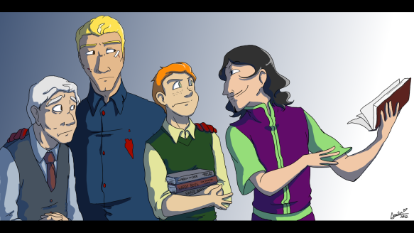 Dodge Cast drawn by Emily Shilts